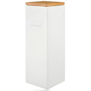 Box White With Bamboo Lid Tower