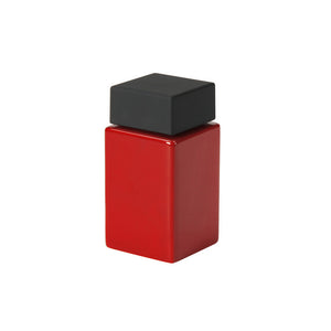 Cube Spice Jar Red