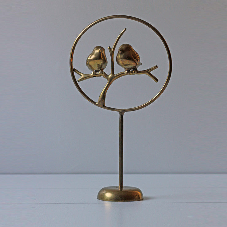 Brass Birds On A Branch