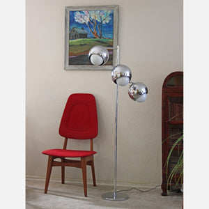 Chrome 3-Light Floor Lamp