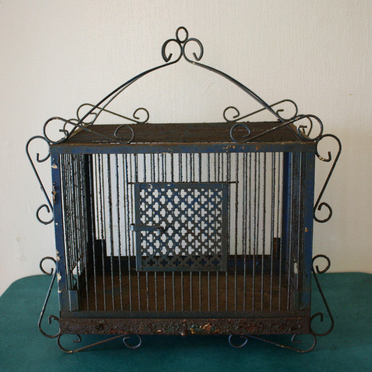 Antique Scrolled Metal Birdcage