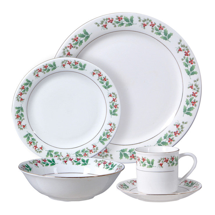 Holiday Gold 20Pc Dinner Set