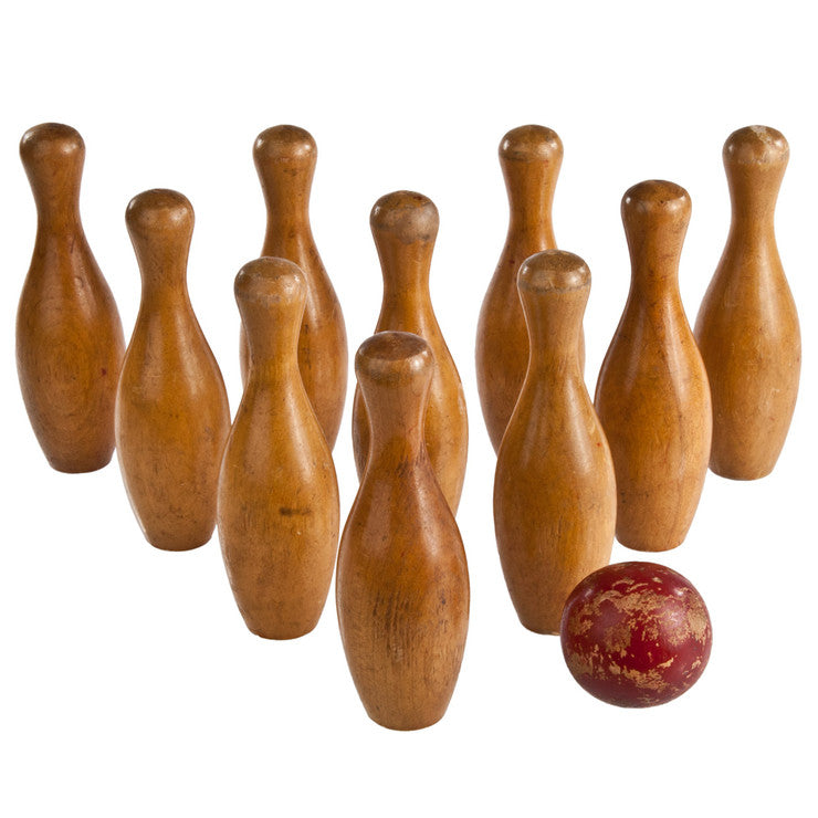 Bowling Pins with Ball Set Of 10
