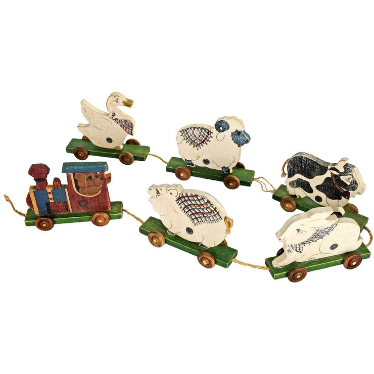 Child's Solid Toy Animal Train