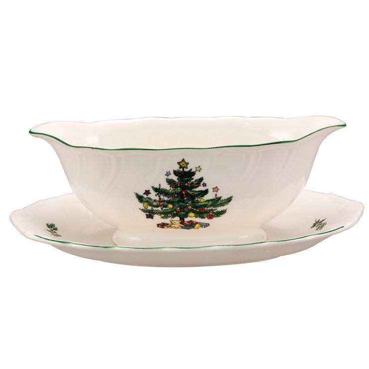 Holidays Gravy Boat And Stand