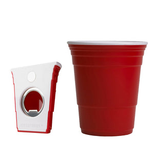 Bottle Opener And Icon Cup Set