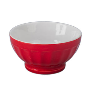 Fluted Bowl 8oz Red 4 Piece