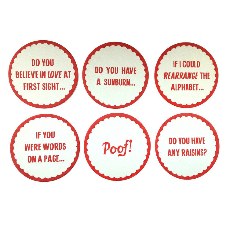 Pick-Up Lines Coaster Set