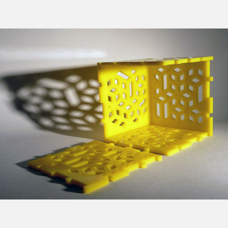 3D Volumes Puzzle Cube Yellow