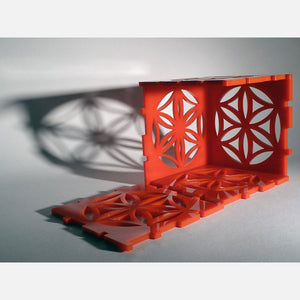 Flower Of Life Cube Lamp Red