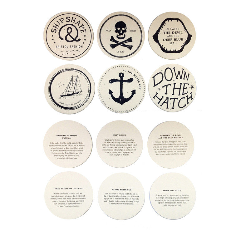 Drunken Sailor Coaster Set
