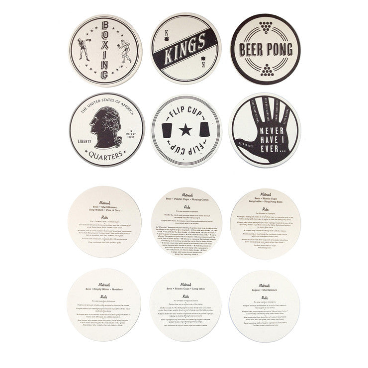 Drinking Games Coaster Set