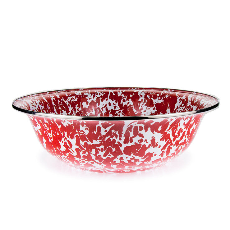 Enamelware Serving Bowl Red