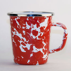 Latte Mug Red Swirl 4 Pack