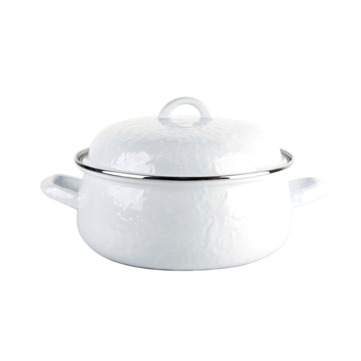 Dutch Oven Hammered White