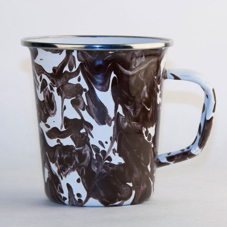 Latte Mug Brown Swirl 4 Pack