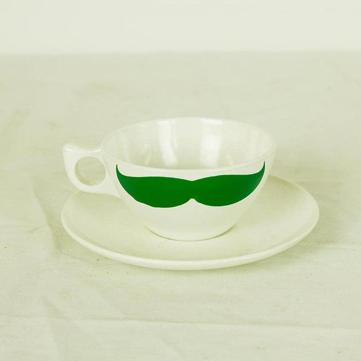 '50s Cup & Saucer Green