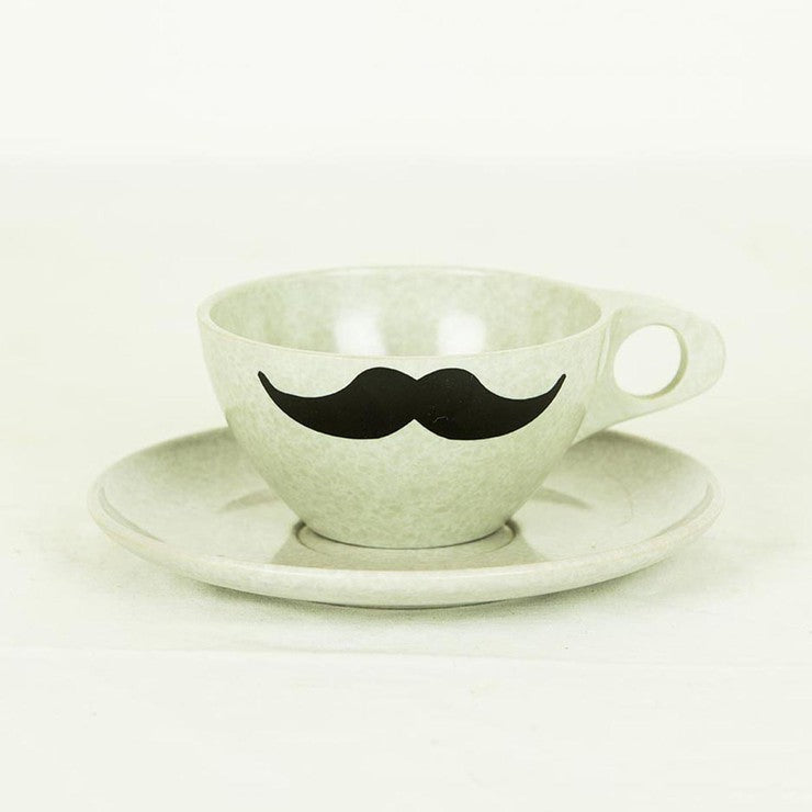 '50s Cup & Saucer Gray