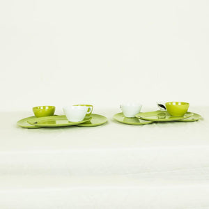 Cake Plate & Coffee Cup Set