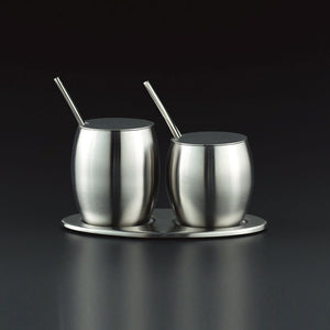 Duo Stainless Condiment Jar Set