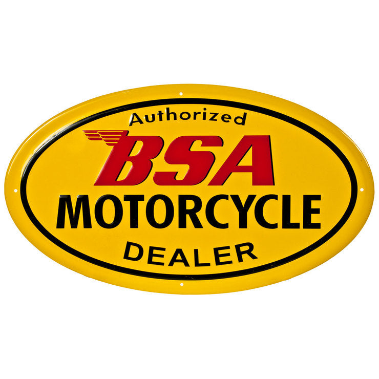 BSA Motorcycle Dealer Sign