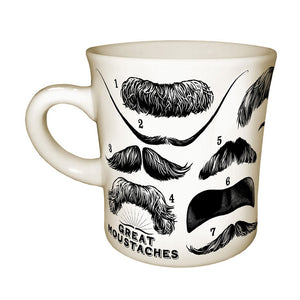 Great Moustache Mug Pair