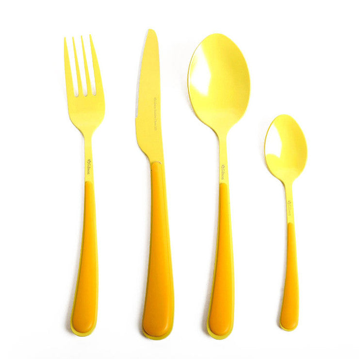 Gibson Flatware 16Pc Set Yellow