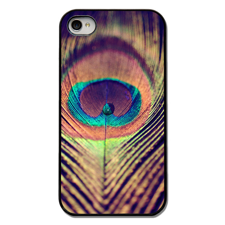 Bright Peacock iPhone 4 Case Blk