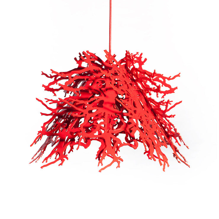 Abstraction Pendant Light Red