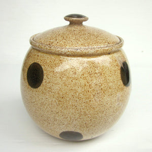 Polka Dot Sugar Or Honey Pot