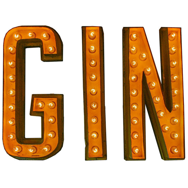 GIN Marquee Sign
