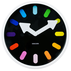 Pictogram Wall Clock White