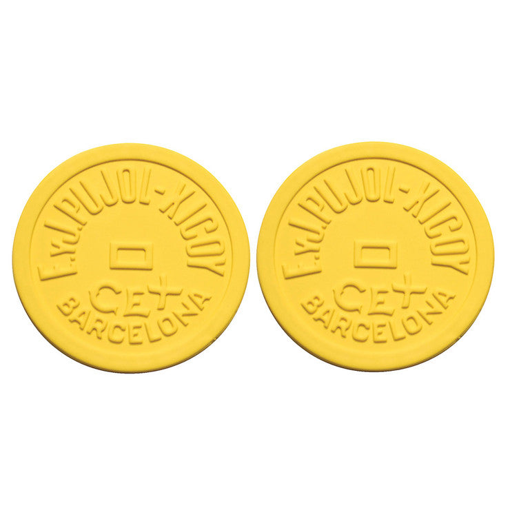 Barcelona Coaster Rnd Yellow 2Pc
