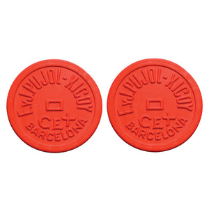 Barcelona Coaster Round Red 2Pc