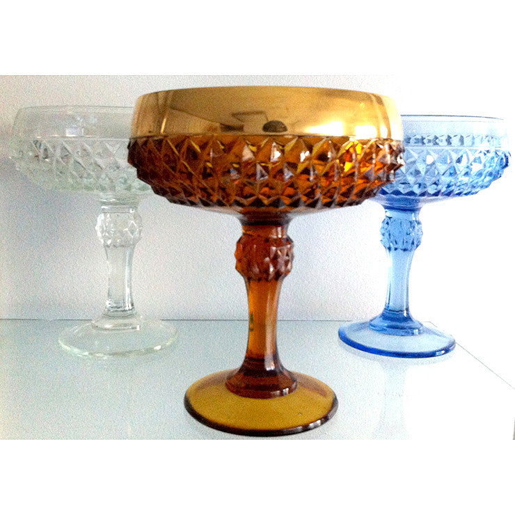 Diamond Point Compote Collection