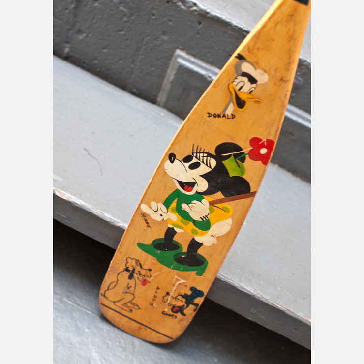Hand Painted Disney Boat Oar