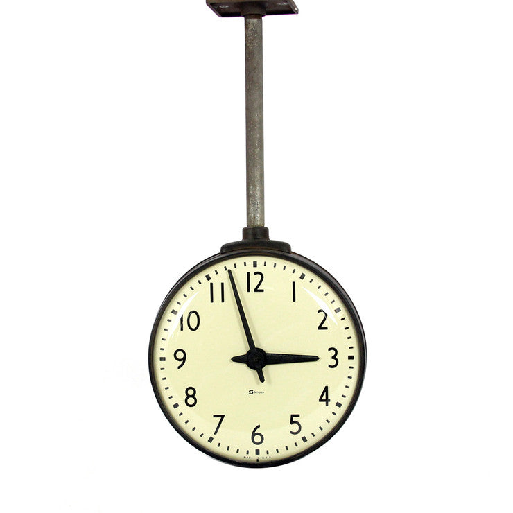 Double-Sided Industrial Clock