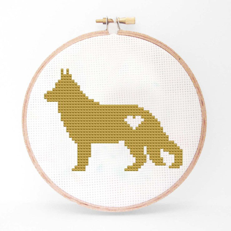 German Shepherd Cross Stitch