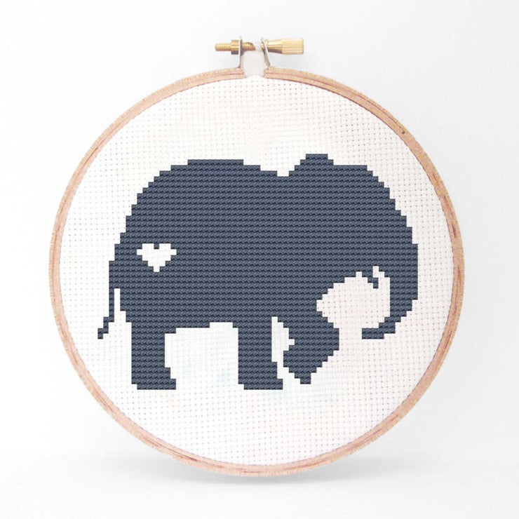 Elephant Cross Stitch Kit