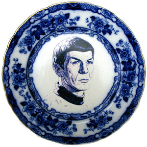 Flow Blue Spock Portrait I