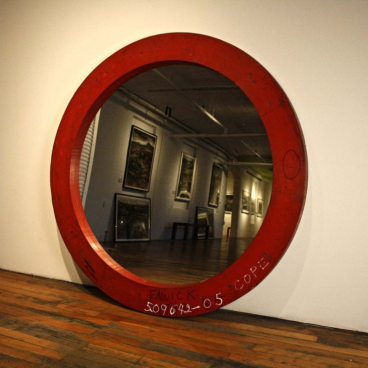 Fawick Round Mirror Red