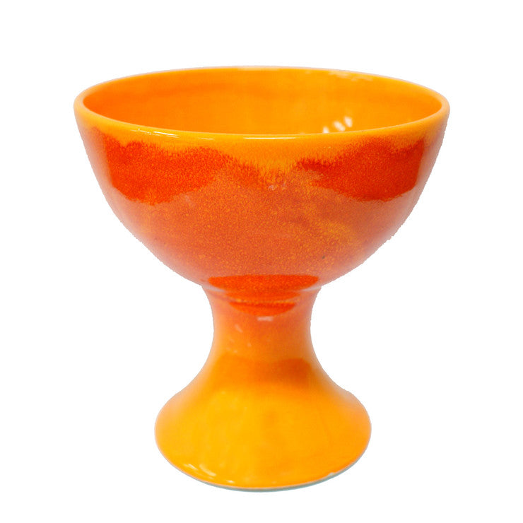 Drip Glaze Pottery Orange