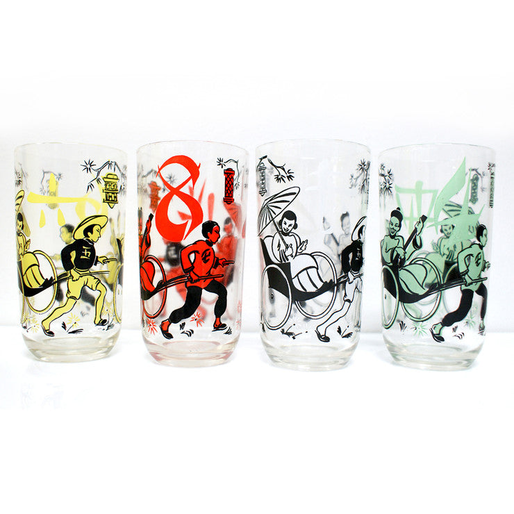 '50s Asian Rickshaw Glasses
