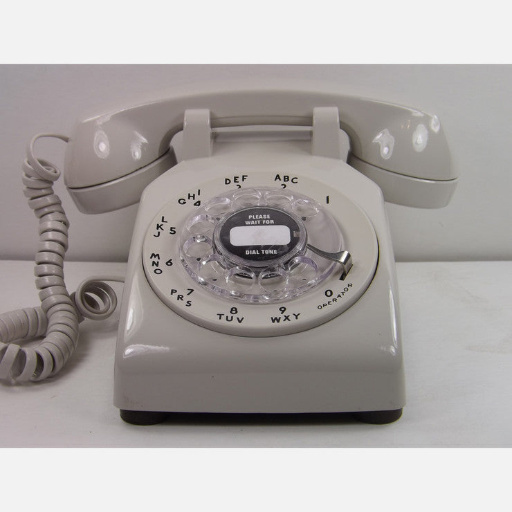 500 Rotary Dial Desk Phone Gray