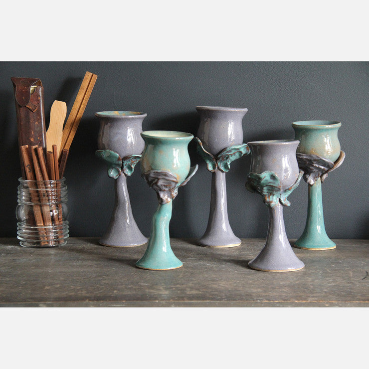 Ceramic Goblet Set Of 5