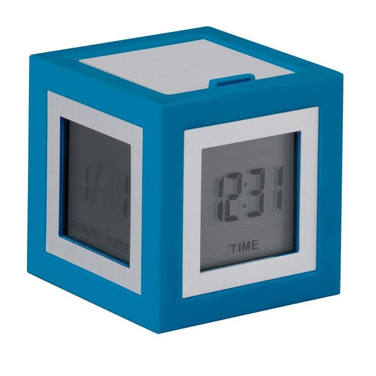 Cubissimo LCD Clock Blue