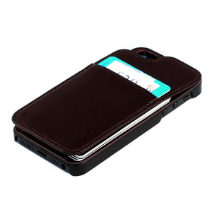 iPhone 5/5S Wallet Case Drk Brn