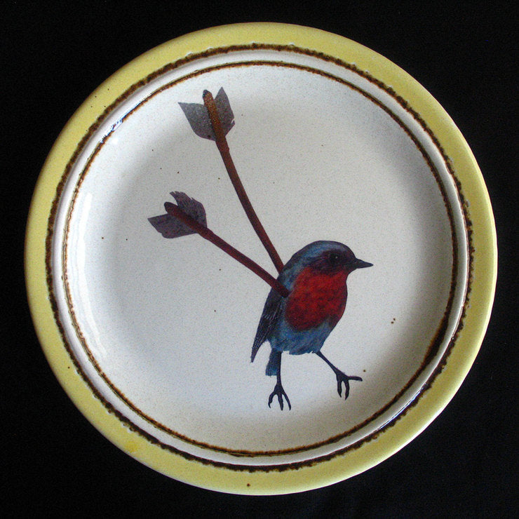 Birds With Arrows Plate I
