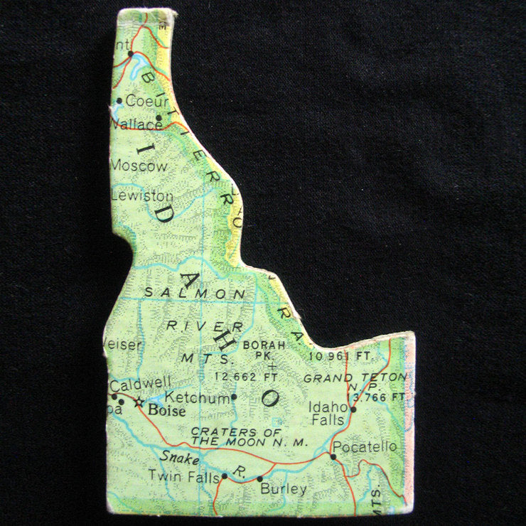 Idaho Road Map Magnet