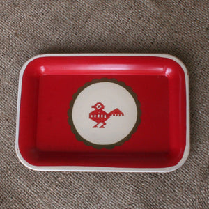 Hand Painted Metal Tray IV